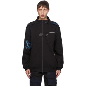 Xander Zhou Black Embroidered Jacket