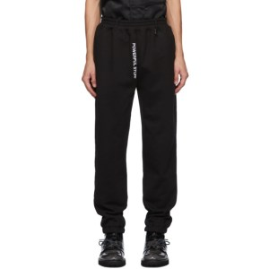 Xander Zhou Black Powerful Stuff Lounge Pants