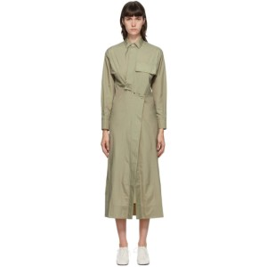 Markoo SSENSE Exclusive Khaki Snap Front Dress