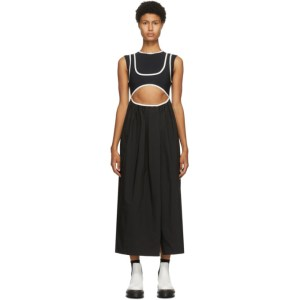 Markoo Black The Double Tank Cut-Out Dress