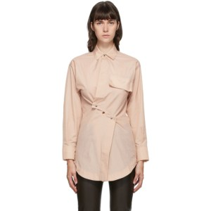 Markoo SSENSE Exclusive Pink Snap Front Shirt