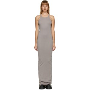 Rick Owens Drkshdw Grey Rib Tank Dress