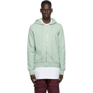 Rick Owens Drkshdw Green Jason Zip-Up Hoodie