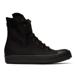 Rick Owens Drkshdw Black Wax High-Top Sneakers