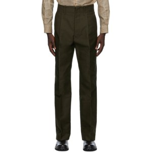 UNIFORME Brown Wide Pleated Trousers