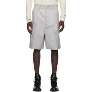 UNIFORME Grey Wide Pleated Shorts