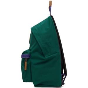Eastpak Green and Purple Padded Pakr Backpack