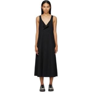Y-3 Black Wool Gilet Dress