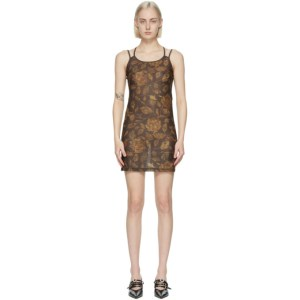 Charlotte Knowles Brown Vortex Dress