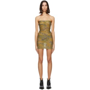 Charlotte Knowles SSENSE Exclusive Green Skinn Dress