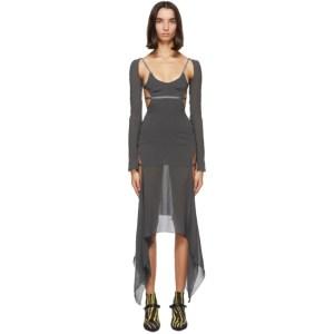 Charlotte Knowles SSENSE Exclusive Grey Vyper Dress