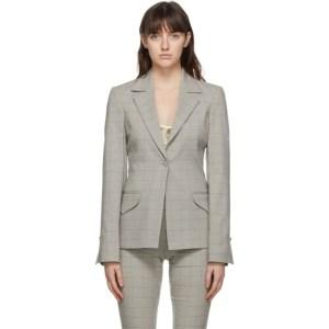 Charlotte Knowles Grey Check Stream Jacket