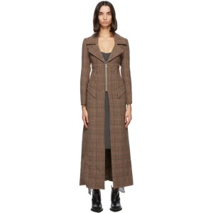 Charlotte Knowles Brown Houndstooth Hil Coat