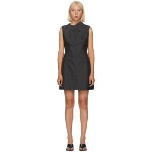 Situationist Grey Wrap Collar Dress