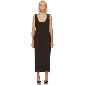Situationist Brown Asymmetric Slip Dress