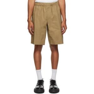 Helmut Lang Tan Pull-On Shorts