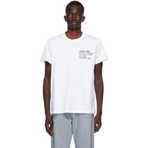 Helmut Lang White Finest Standard T-Shirt