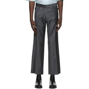 Martin Asbjorn Grey Wool Bruce Trousers