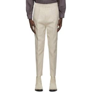 Martin Asbjorn Off-White Pinstripe Dawn Trousers