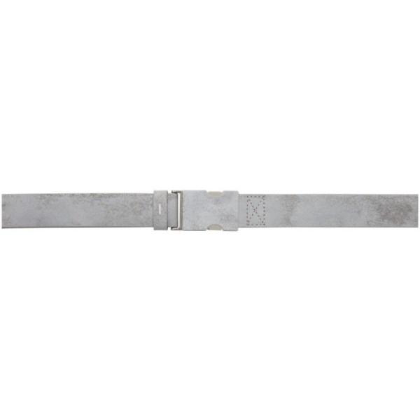 Maison Margiela White Painted Buckle Belt