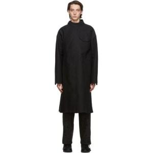 Engineered Garments Black Double Cloth MG Coat