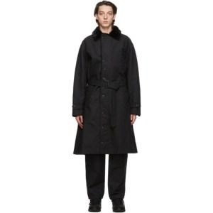 Engineered Garments Black Double Cloth Storm Coat