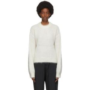 Fumito Ganryu White Mohair Sweater
