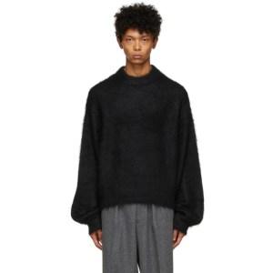 Fumito Ganryu Black Dolman Sleeve Sweater