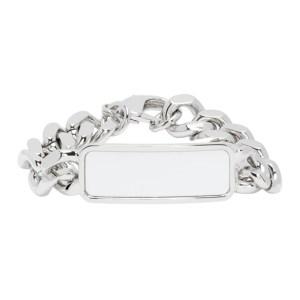 Dheygere Silver White Board Bracelet