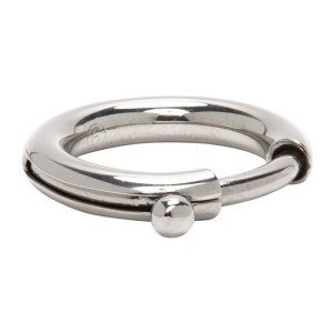 MM6 Maison Margiela Silver Clasp Ring