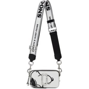 Marc Jacobs White Peanuts Edition Snoopy Snapshot Shoulder Bag