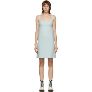 Marc Jacobs Blue Wool Slip Dress