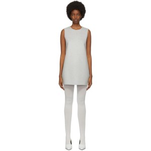Marc Jacobs Grey Wool and Cashmere Double-Face Shift Short Dress
