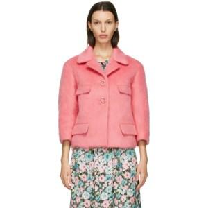 Marc Jacobs Pink Wool Boxy Jacket