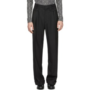 Casablanca Black Ticket Pocket Pleated Trousers