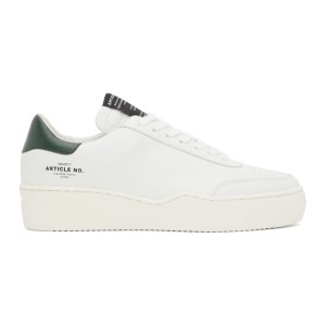 Article No. White and Green 0517 Low-Top Sneakers