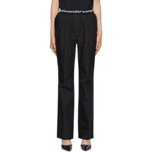 alexanderwang.t Black Pull-On Pleated Lounge Pants