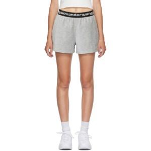 alexanderwang.t Grey Corduroy Logo Shorts