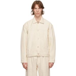 Kuro Off-White Denim Big Jacket