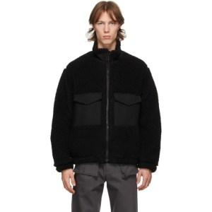 Kuro Black Sherpa Boa Jacket