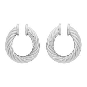 Portrait Report Silver Mini Twist Ring Rope Ear Cuffs