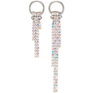 Justine Clenquet SSENSE Exclusive Silver Shanon Earrings