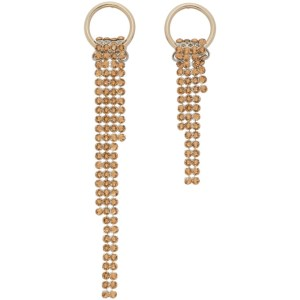 Justine Clenquet SSENSE Exclusive Gold Shanon Earrings