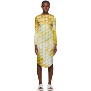 Serapis Yellow Silk Monogram Dress