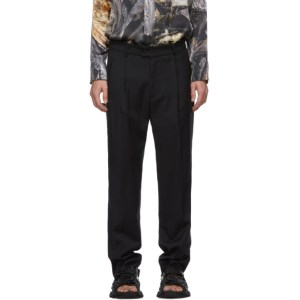 Serapis Navy Wool Trousers