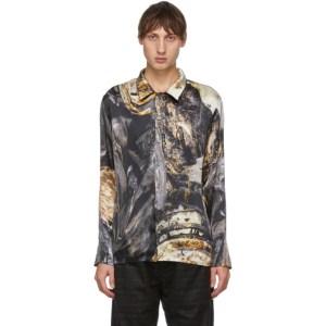 Serapis Multicolor Silk Printed Shirt