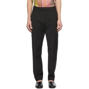 Deveaux New York Black Wool Jasper Trousers