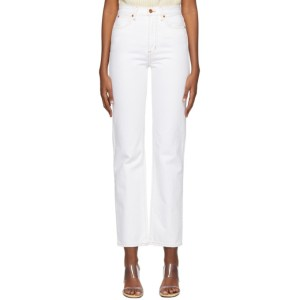 SLVRLAKE White London Straight Jeans