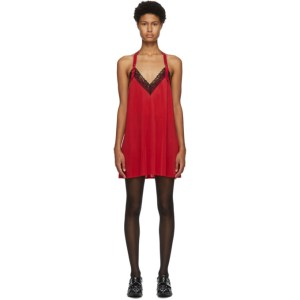Junya Watanabe Red Lace Slip Dress
