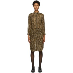 Junya Watanabe Brown and Black Leopard Print Dress